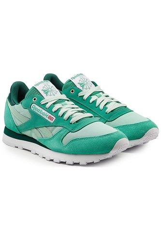 Reebok Classic Sneakers With Leather Mesh And Suede Teal z759r