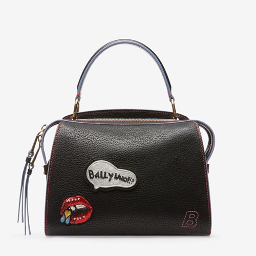 Bally Women's Grained Goat Leather Top Handle Bag In Black l5dNg9PLTH