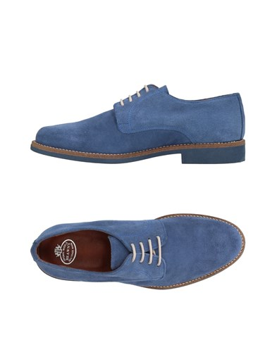 BRAWN'S Lace Up Shoes Slate Blue DMAIByE5Gf