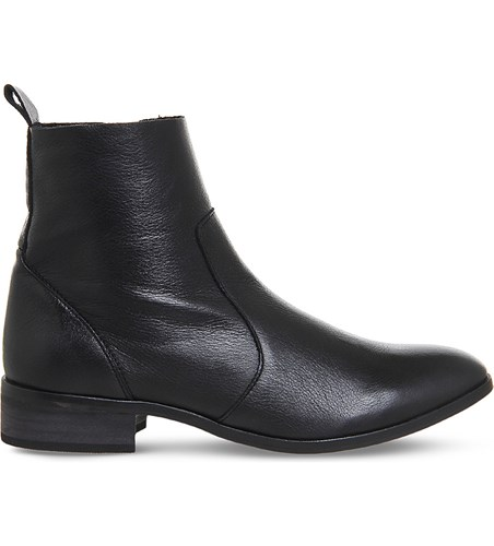 Office Ashleigh Leather Ankle Boots Black Leather qSnbGlf3fO