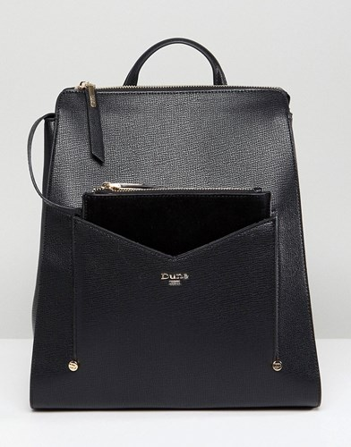 Dune Backpack In Black With Detachable Front Purse sVZ2Nb