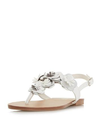 Dorothy Perkins Head Over Heels By Dune White 'Lizza' Flat Sandals ppLXQGcc
