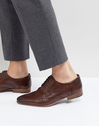 WALK LONDON City Brogue Shoes In Brown lr7uV4