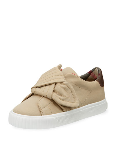 Burberry Westford Canvas Sneaker W Knot Detail Youth Beige DuvAoydZO