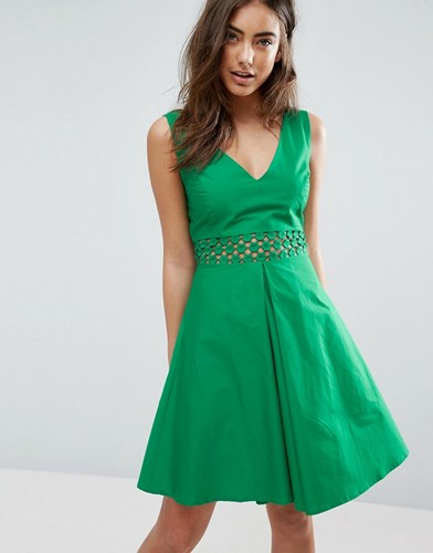 Asos Crochet Insert Sundress Green GtZ5yf
