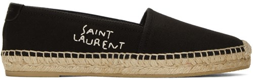 Saint Laurent Black Sl Embroidered Espadrilles xHSO909h