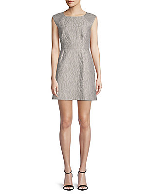 Halston Embossed Sheath Dress Vapor vsw6rk