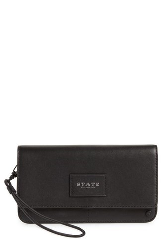 State Bags 'S Parkville Bristol Leather Wristlet Black 3F5Kuy7dhM
