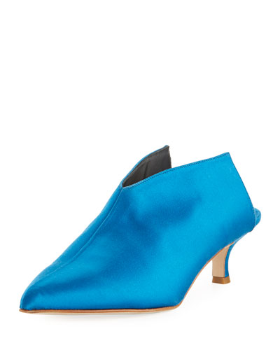Tibi Jase Satin Kitten Mule Oxford Blue obq4Q0h0U
