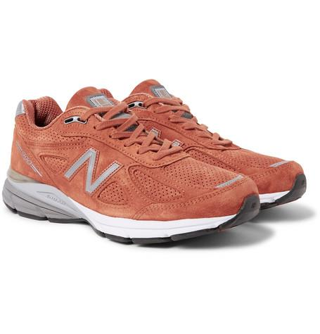 New Balance 990V4 Suede Sneakers Orange QPwrHPSV