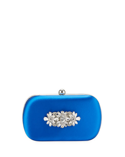 Badgley Mischka Certain Embellished Clutch Blue 4vVvvN1M