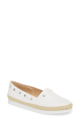 Callisto Highlighter Espadrille White Faux Leather oY7Phrxb