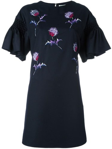 Kenzo 'Dandelion' Embroidered Dress Blue 43cCApOCTh