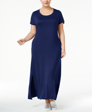 Style&co. Style Co Plus Size T Shirt Maxi Dress Only At Macy's Ink LSMutE