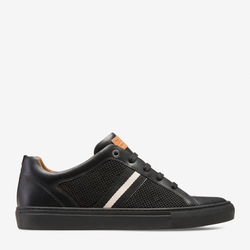 Bally 'S Calf Leather And Mesh Low Top Sneaker In Black MVrmh7A