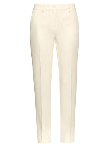 Capri Crepe Trousers White