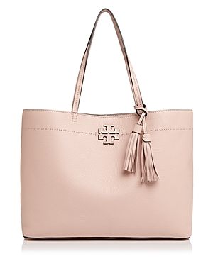 Tory Burch Mcgraw Medium Leather Tote Pink Quartz Gold lp6Xiq8ZZ