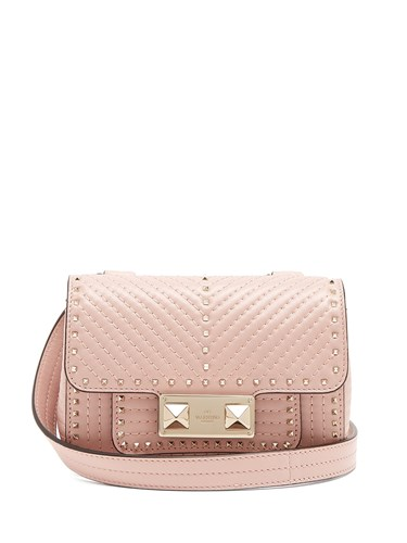 Valentino Ziggystud Small Quilted Leather Shoulder Bag Light Pink xgXmlbj9t