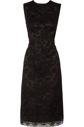 ADAM by Adam Lippes Cotton Blend Corded Lace Midi Dress Black BBgiBOgG