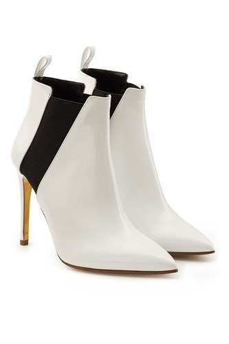 Rupert Sanderson Patent Leather Ankle Boots White QRhUmU