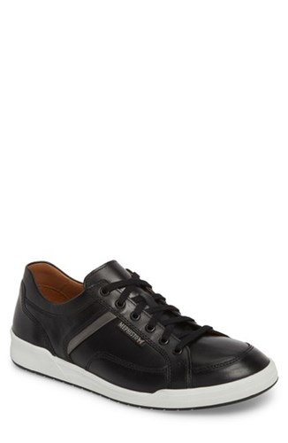 Mephisto 'Rodrigo' Sneaker Black Leather 26CFk