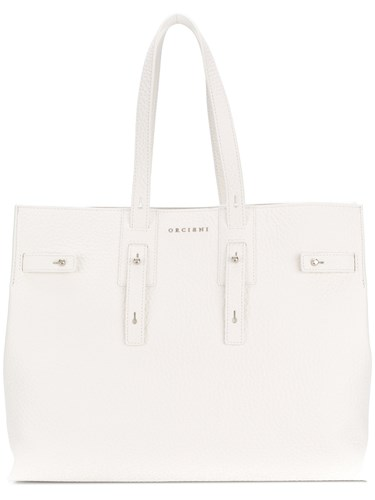 Orciani Top Handle Tote Bag White ghYKs
