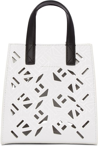 Logo Tote Cut Out Mini White Kenzo 0qOZn