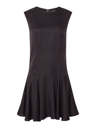 Calvin Klein Fit And Flare Dress Black D5WPIw