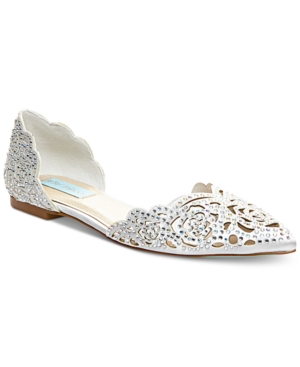 Betsey Johnson Blue By Lucy Embellished Flats Women's Shoes 82h1WLb