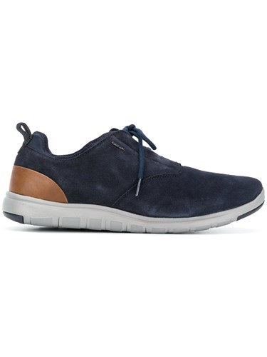 Geox Lace Up Sneakers Blue OAQMzmST