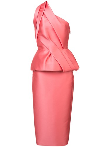 Monique Lhuillier Structured One Shoulder Dress Pink And Purple dQBBfGR