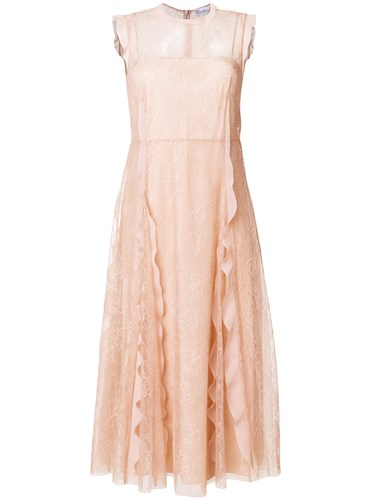 RED Valentino Lace Ruffle Dress Nude And Neutrals WiBso