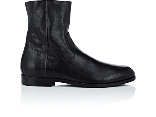Buttero Leather Side Zip Boots Black ZKOFdTwhYX