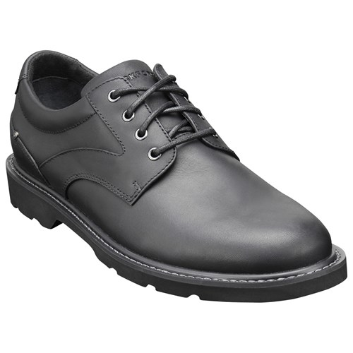 Rockport Charlesview Waterproof Leather Derby Shoes Black kONTb
