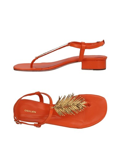 Osklen Toe Strap Sandals Orange tYt8pClQg
