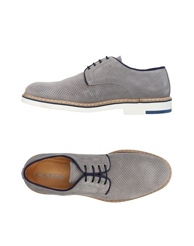 EXTON Lace Up Shoes Grey Gdbvb