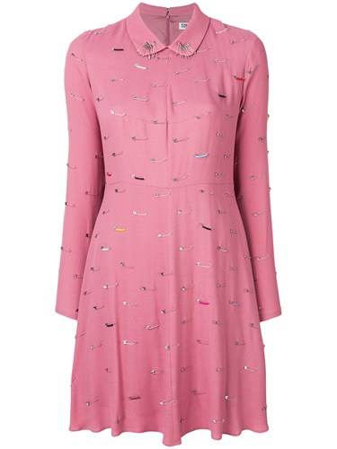 Sonia Rykiel By Safety Pin Detail Dress Pink And Purple FmiBD3