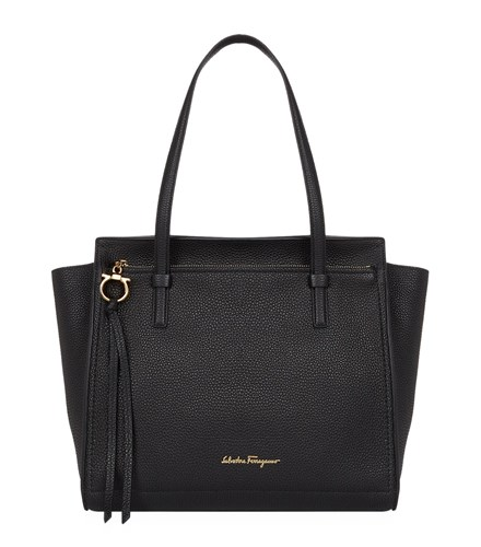Salvatore Ferragamo Medium Amy Tote Black c8hVdP