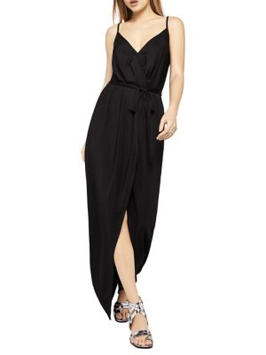 BCBGeneration Sleeveless Asymmetrical Maxi Dress Black hF3ZBWC