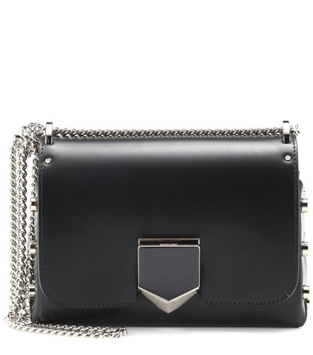 Jimmy Choo Lockett Petite Leather Shoulder Bag Black 4ycQdNm