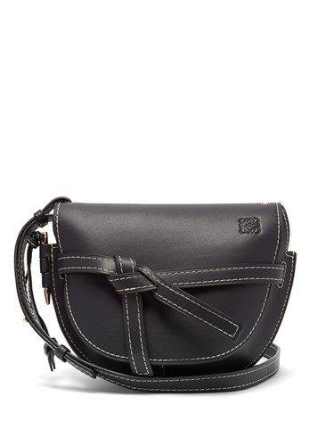 Gate Small Leather Cross Body Bag Navy