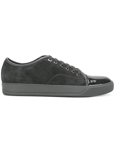 Lanvin Toe Capped Sneakers Calf Leather Leather Calf Suede Rubber Blue 4wnnOvWC