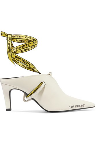 Off-White For Walking Leather Mules It39 Gbp LTDfBE