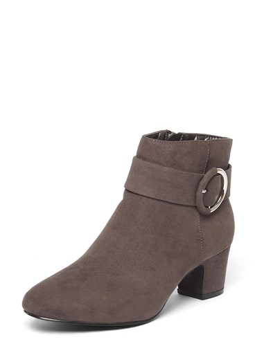 Dorothy Perkins Wide Fit Grey 'Ace' Ankle Boots 6XJd3ZSQe