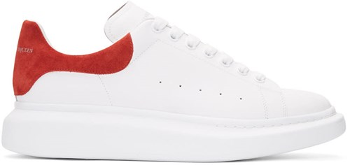 Alexander McQueen White And Red Oversized Sneakers lbNLeo