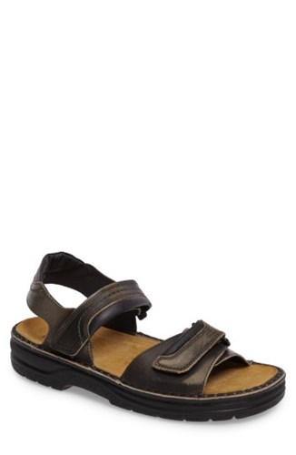 Naot Footwear Men's Lappland Sandal Vintage Gray Leather ZEyO03XIk