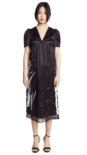 McQ by Alexander McQueen Puff Sleeve Dress Darkest Black 5bVTeOqaCC