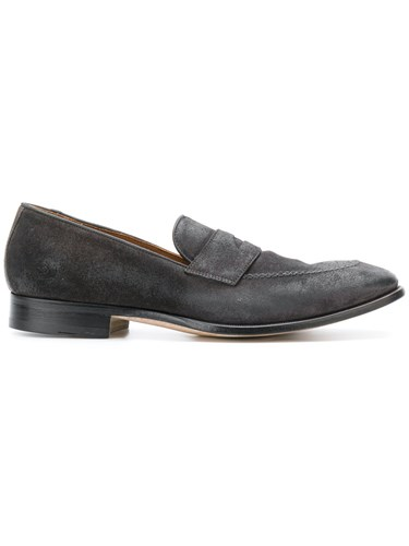 On Slip Suede Leather Grey Dell'Oglio Loafers 5Tzq0d5wx