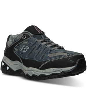 Skechers Men's After Burn Memory Fit Wide Width Training Sneakers From Finish Line Navy 2E40LQx4Q