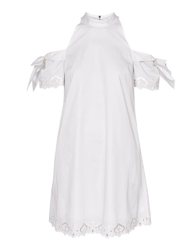 Ted Baker Semarra Embroidered Cold Shouldr Dress White tsgXBfT